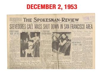 Newspaper from December 1953 - Spokane, WA Spokesman-Review