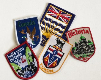 Vintage Canada Embroidered Patch - British Columbia, Victoria, Yukon, Tourist Patch