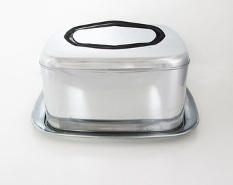 "Mid-Century Stainless Steel Lincoln Beautyware Cake Keep - Cake Server - ""Retro Sweetness"""