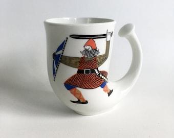Rare, Vintage Rolf Frøyland Viking Horn Mug, Made in Norway by Figgjo - Viking Art on Coffee Mug
