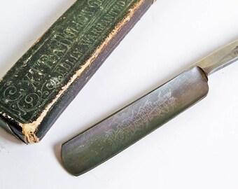 Antique Radiumite Straight Razor with Original Box - Extra Hollow Ground