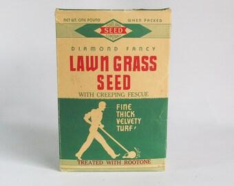 1956 Lawn Grass Seed Box