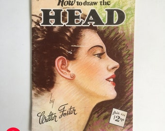 """Mid Century Walter T. Foster """"How to"""" Painting & Drawing Book - Drawing and Painting Portraits, Figure Drawing, Horses """"FREE USA SHIPPING"""""""