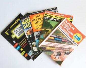 Bundle of 6 Vintage Model Railroad Books - Model Railroad How To Books - Railroad Layouts, Wiring, Toy Trains - Railroadabilia