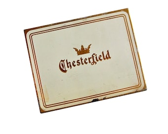 1930s-1940s Chesterfield  Cigarette Tin  - Tobacciana - Advertising Art