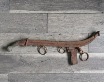 "Primitive Draft Horse Harness Hame ""Farmhouse Chic Rustic Charm"""