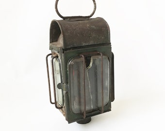"19th Century Carriage Lantern, Buggy Lantern, Wagon Light ""Ready for Upcycle as a Wall Sconce or Candle Holder"""
