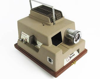 Mid Century Keystone K-510 Slide Projector - Hands-Free Auto Slide advance with Timer & Remote Push Button Slide Advance