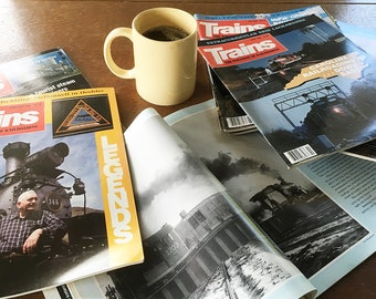 1960s & 198s Trains Magazine Bundle - 12 Month Bundle, 12 Back Issues for the Train Lover, Model Railroader, Railroadiana