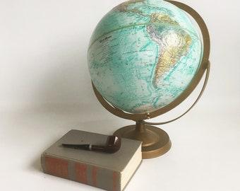 "1980s Replogle 12"" Globe, World Globe, World Ocean Series, Relief Globe"