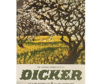 1974 Ruth Dicker Painting Print - Poster - Limited Edition Gallery Show Poster Printed by The Nut Tree in California