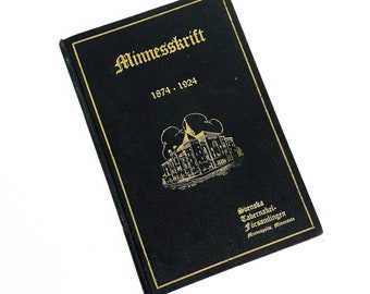 "1924 Swedish Tabernacle Assembly ""Minnesskrift"" Minneapolis, Minnesota 70th Anniversary Book - Swedish Language Edition"