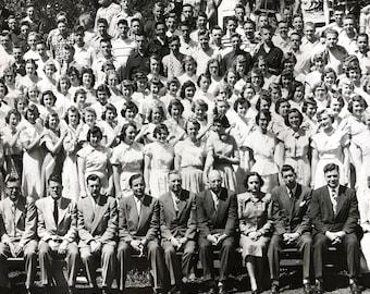 "Minnehaha Academy 1951 School Photo, All Students & Staff 29"" X 8"" Panoramic Photo - Minneapolis, MN, Covenant Church Memorabilia"
