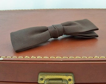 Mid Century Royal Clip-on Bow Tie - Brown - FREE USA SHIPPING