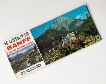 1960s Banff And The Canadian Rockies Book of Postcards, Canadian Tourist Postcards,