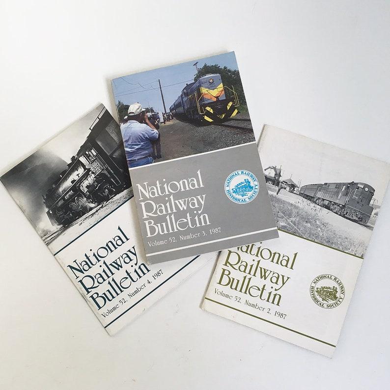 Bundle of 3 National Railway Histrorical Society Bulletins image 0