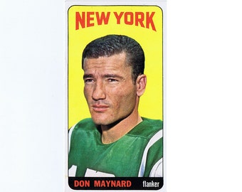 1965 Don Maynard Football Trading Card - Topps Pro Football no. 121 - New York Jets