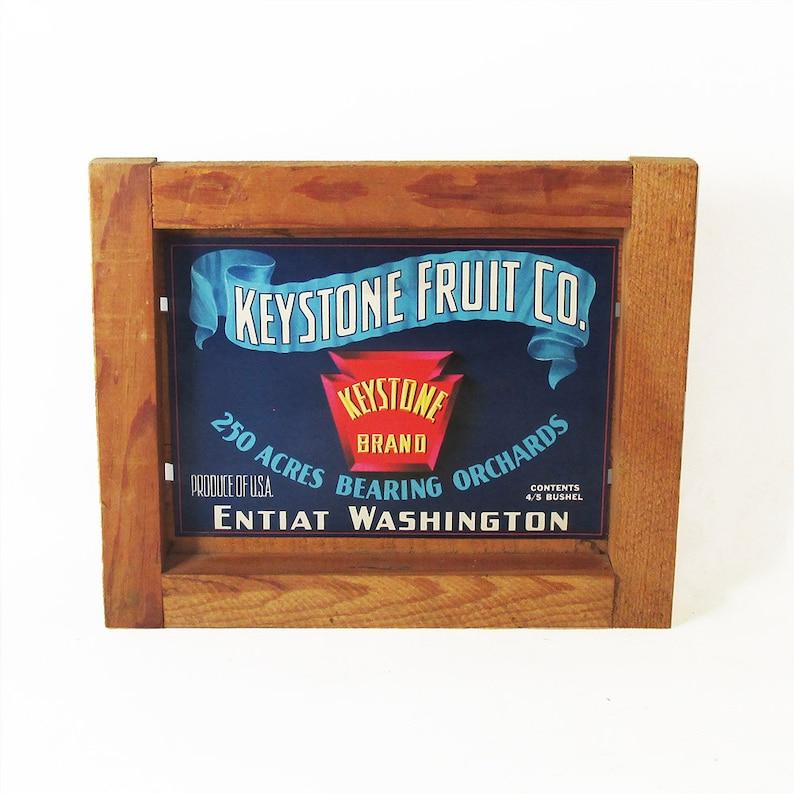 Mid Century Fruit Crate Front Panel  Apple Label  Washington image 0