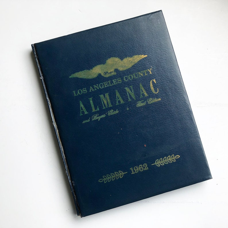 1962 Los Angeles County Almanac Published by LA Countyt image 0