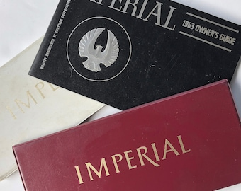 Original 1960s-1970s Chrysler Imperial Owners Manual, Operator's Manual, Owners Guide - 1963, 1969 or 1973