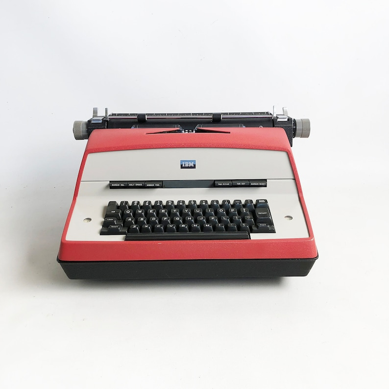 1967 IBM Model D Electric Typewriter with Red Body Full Size image 0