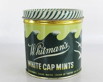 1950s Whitman's White Cap Mints Tin - Candy Tin