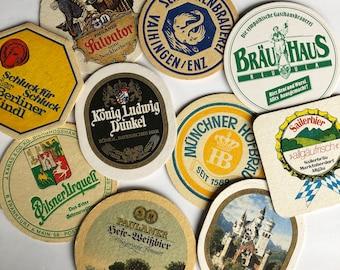 Bundle of Six 1970s-80s German Beer Coasters, Bier Coaster, Octoberfest, Oktoberfest, Breweriana - Drink Coaster B