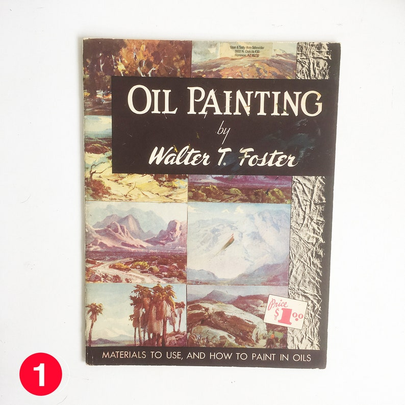 Mid Century Walter T. Foster How to Painting Book  Oil image 0
