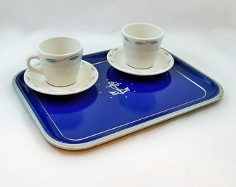Mid Century Nautical - Navy Themed Metal Serving Tray