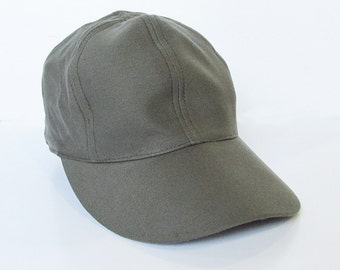 Vintage Dutch Army Field Cap - Baseball Style Hat - Military Surplus - Olive Drab - Mens Large - FREE USA SHIPPING