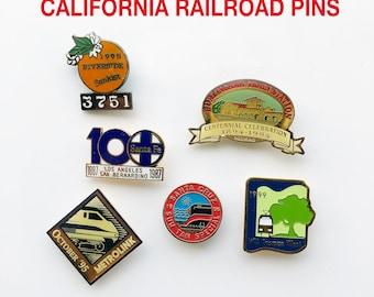Vintage California Railroad Lapel Pin, Hat Pin, Tie Tack, Tie Pin - Railroadiana, Railroad Collectible, Train Lover, Railfan