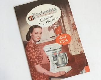 1950s Promotional Recipe Book, Cookbook, Mid Century Recipes - Kitchen Aid, Fleischmanns, General Foods, Good Housekeeping