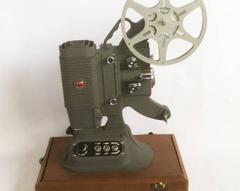 Working 1950 DeJur Model 750 - 8mm Movie Projector with Manual - Art Deco Style