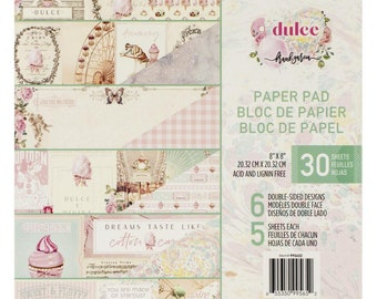 6 Designs//5 Each Prima Marketing Double-sided Paper Pad A4 30//pkg-havana