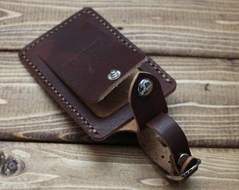 e2790cdad5fd Personalized for FREE Luggage Tag in Vegetable Tanned Chestnut Leather