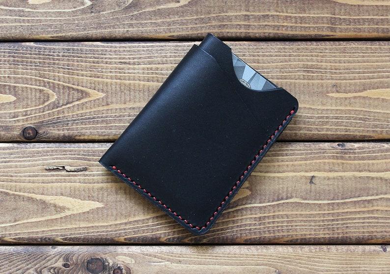 8dbedb2a82387 Minimalistische Leder-Geldbörse Brieftasche personalisierte