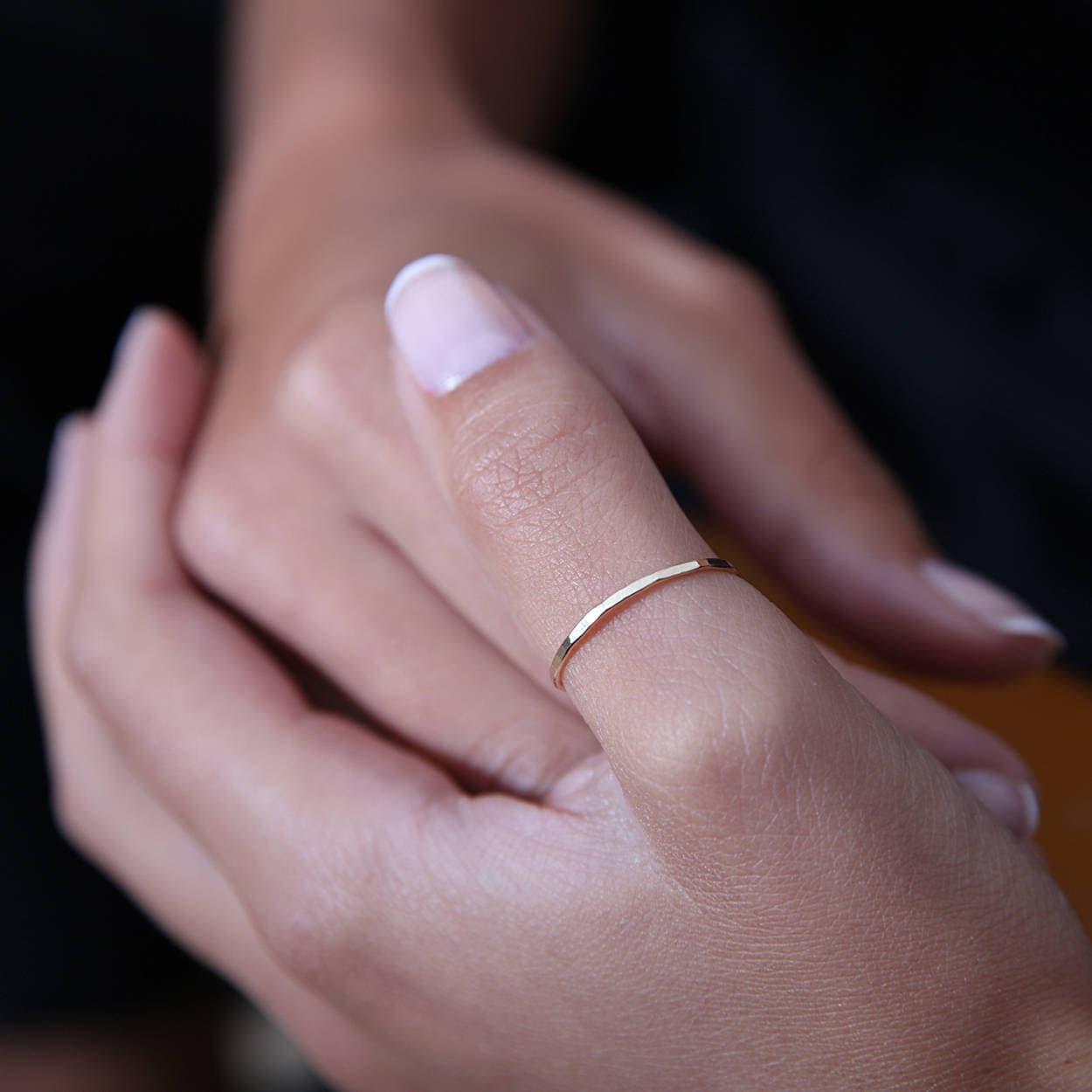Dünne Daumen Ring Daumen-Ring dünnen Ring Ring Gold | Etsy