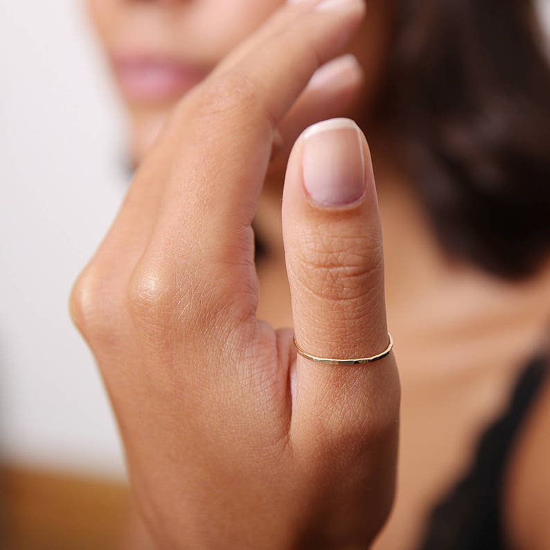 3975f6e3ad691 Skinny Thumb Ring - Thumb Ring - Skinny Ring - Stacking Ring - Gold Thumb  Ring - Silver Thumb Ring