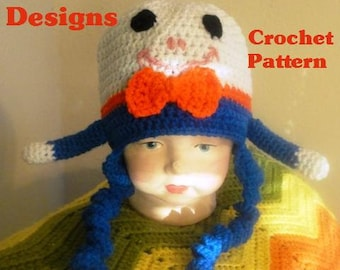 Crochet Pattern Humpty Dumpty Hat for Children  PDF instant digital download
