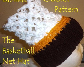 Basketball Net Hat Crochet Instructions PDF Pattern for Adults and Teens