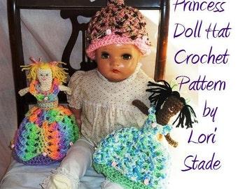 PDF Crochet Pattern Dolly Toddler Hat