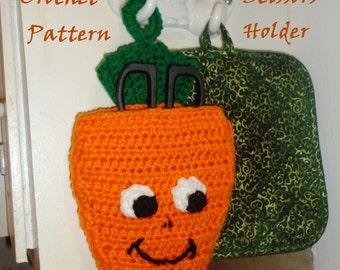 Carrot Kitchen Scissors Holder Crochet Pattern Instant PDF Digital Download