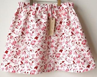 c l e a r a n c e / girls skirt / organic cotton / Size 6 / pink floral