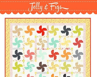 """Jelly & Figs Quilt Pattern by Fig Tree Quilts - Finished Size 67"""" x 76.5"""" Sq - Jelly Roll Friendly"""