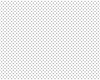 Misty Dots Black Cotton Fabric by The Yard