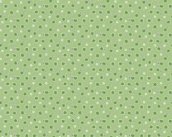 Lori Holt Stitch Fabric by Riley Blake - Green Bloom Floral Fabric by the 1/2 Yard or Fat Quarter