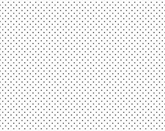 Black and White Polka Dot Fabric - Riley Blake Swiss Dots - Black Polka Dot Quilting Fabric By The 1/2 Yard