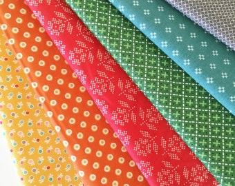 Lori Holt Fall Fat Quarter Bundle - 6pc Bundle in Fall Colors