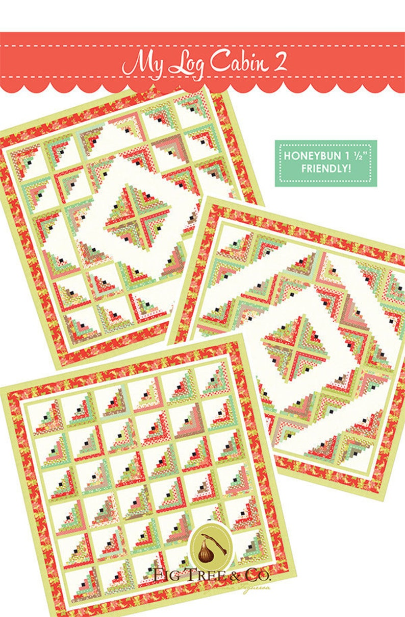 My Log Cabins II Quilt Pattern by Fig Tree Quilts  Strip image 0