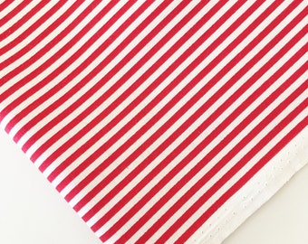 """1/8"""" Red Stripe Fabric - Riley Blake Stripes - Red and White Striped Fabric By The 1/2 Yard"""